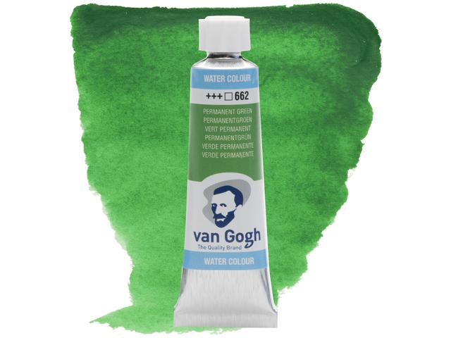 VAN GOGH 10ML AQUARELLFARBE 662 PERMANENTGRÜN 1