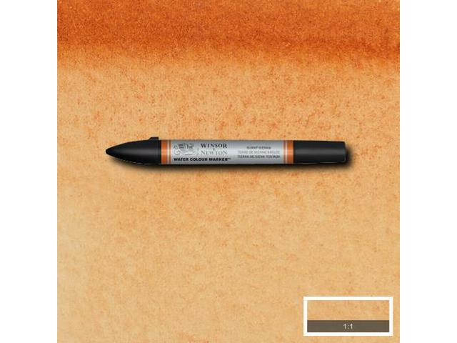 WINSOR & NEWTON WATER COLOUR MARKER S1 074 BURNT SIENNA 1