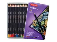 DERWENT STUDIO BUNTSTIFTE IN METALLBOX, 12 STIFTE