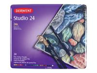 DERWENT STUDIO BUNTSTIFTE IN METALLBOX, 24 STIFTE