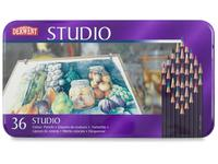 DERWENT STUDIO BUNTSTIFTE IN METALLBOX, 36 STIFTE